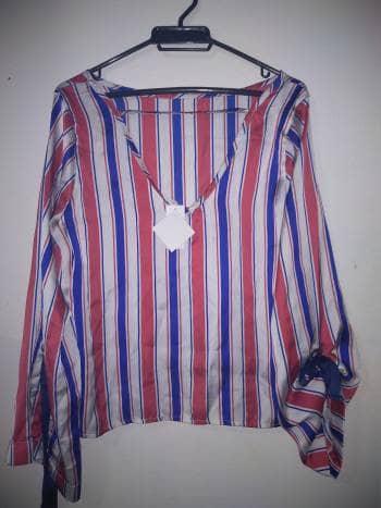 Blusa rayas manga larga