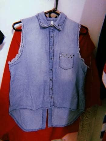 Camisa de jean sin mangas