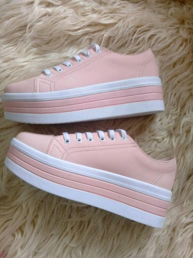 Tenis plataforma palo rosa