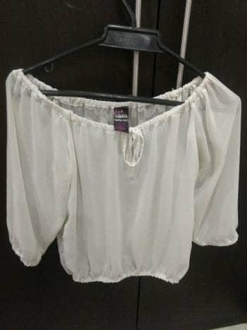 Blusa blanca transparente