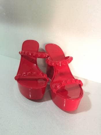 886cfb45fcc Sandalias rojas plataforma - GoTrendier - 306372