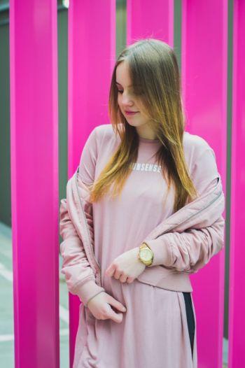 Camiseta larga palo de rosa