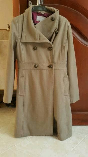 Abrigo laro color beige