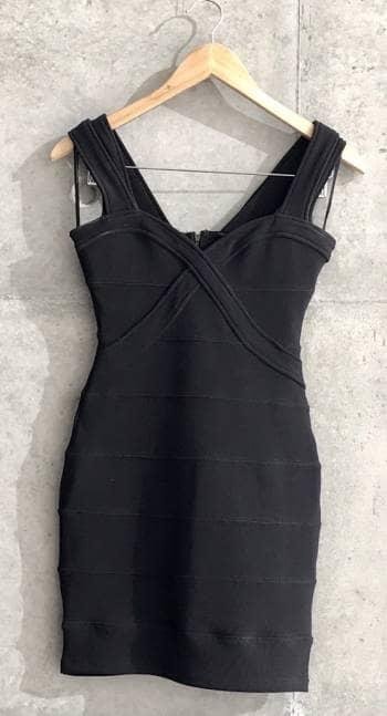 Vestido licrado negro