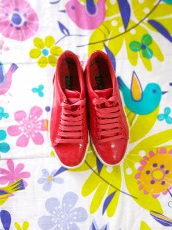 Zapatos tenni charol