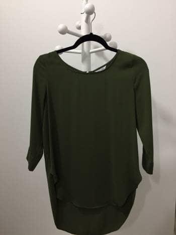 Blusa Verde Larga
