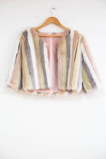 Saco fur tricolor