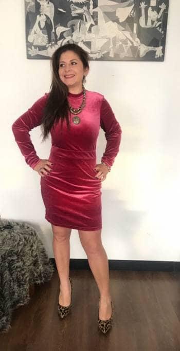 Vestido talla L terciopelo H&M