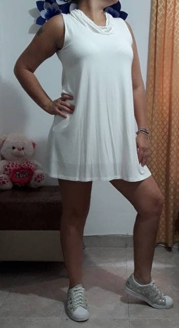 Vestido Liso Semicorto